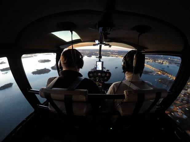 Helikopterikuvaus Espoossa