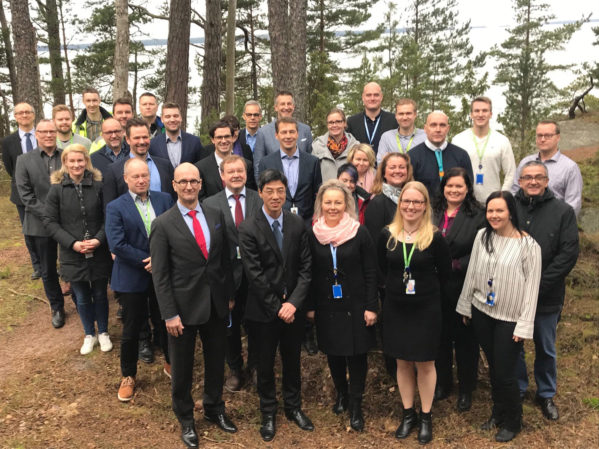 IAEA:n asiantuntijat ja Loviisan voimalaitoksen edustajat Loviisassa helmikuussa 2020