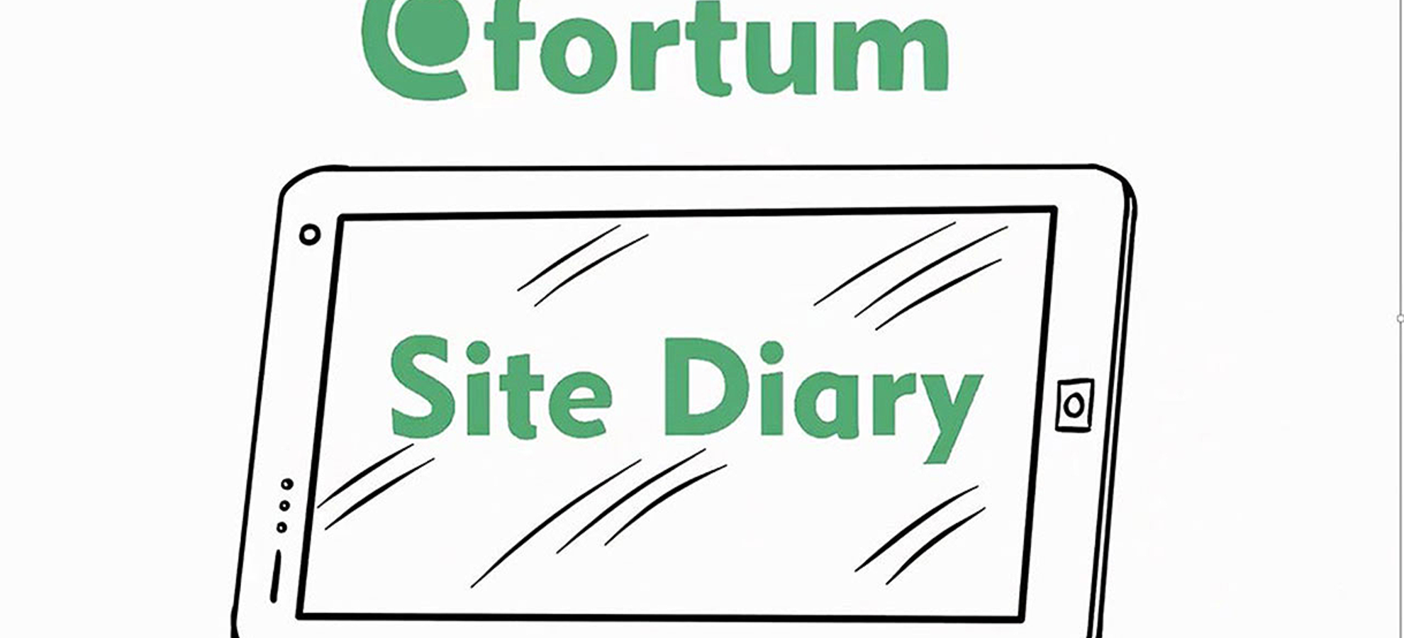 Fortum site diary cover